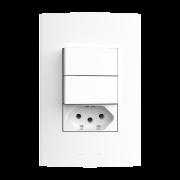 InovaPró 2Seções Interruptor Simples+1Seção Tomada 10A+Placa