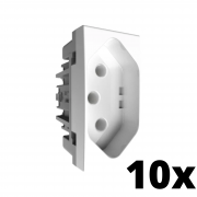 Kit 10 Inova Pró Módulo de Tomada 10A