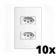 Kit 10 und Inova Pró 2 Seções de Tomada 10A