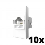 Kit 10 und Inova Pró Módulo de Tomada RJ11