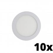 Kit 10 und Painel de Led Embutir 12w Redondo 3000k