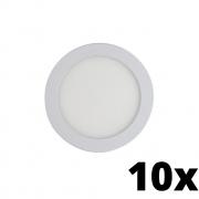 Kit 10 und Painel de Led Embutir 24w Redondo 3000k