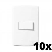 Kit 10 und Siena 1 Seção de Interruptor Simples