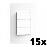 Kit 15 und Inova Pró 3 Seções de Interruptor Simples Com Placa