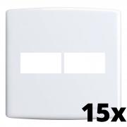 Kit 15 und Siena Placa 4x4 1 Seção + 1 Seção