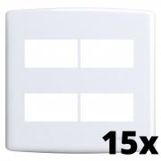 Kit 15 und Siena Placa 4x4 2 Seções + 2 Seções Distanciadas