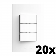Kit 20 und Inova Pró 3 Seções de Interruptor Simples Com Placa