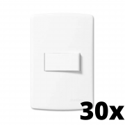 Kit 30 und Siena 1 Seção de Interruptor Simples