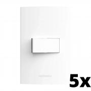 Kit 5 und Inova Pró 1 Seção de Interruptor Simples Com Placa