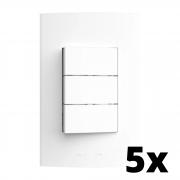 Kit 5 und Inova Pró 3 Seções de Interruptor Simples Com Placa