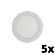 Kit 5 und Painel de Led Embutir 24w Redondo 3000k