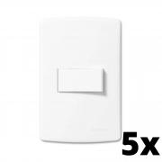 Kit 5 und Siena 1 Seção de Interruptor Simples