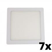 Kit 7 und Painel de Led Embutir 12w Quadrado 6500k