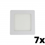 Kit 7 und Painel de Led Embutir 6w Quadrado 6500k