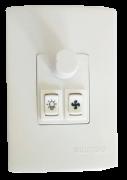 Qualitronix Dimmer Rotativo 1 Tecla Luz e 1 Tecla Ventilador