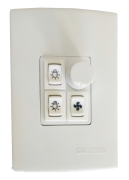 Qualitronix DimmerRotativo Com 2Teclas Luz+1Tecla Ventilador