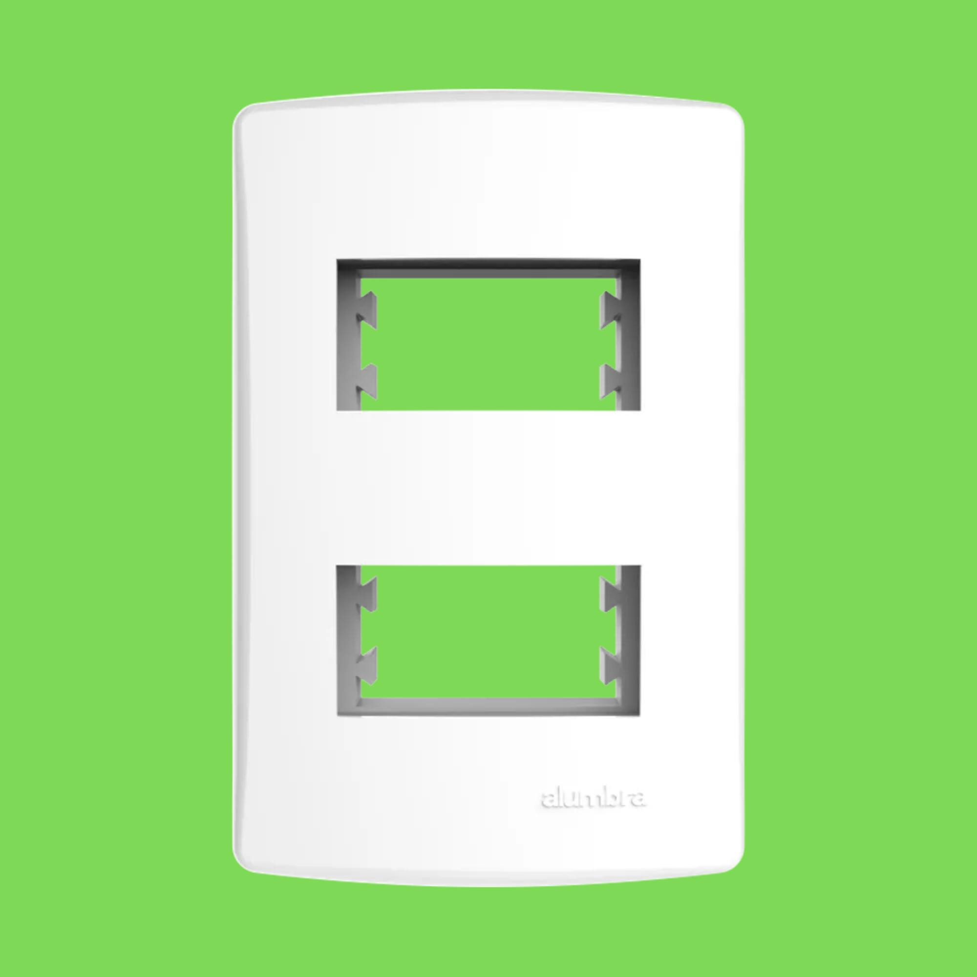 Alumbra Bianco Pró Placa 4x2 2 Seções Distanciadas