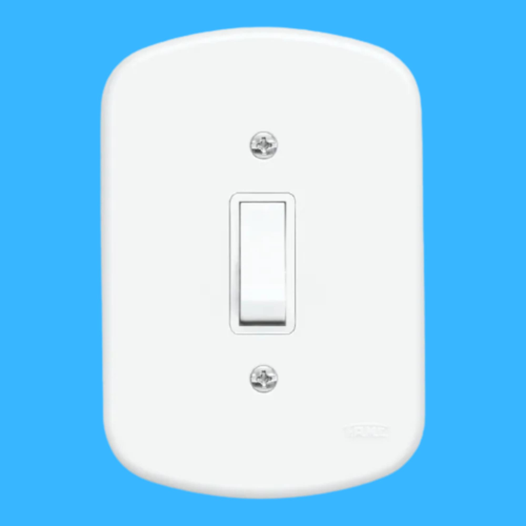 Blanc 1 Seção de Interruptor Simples Com Placa