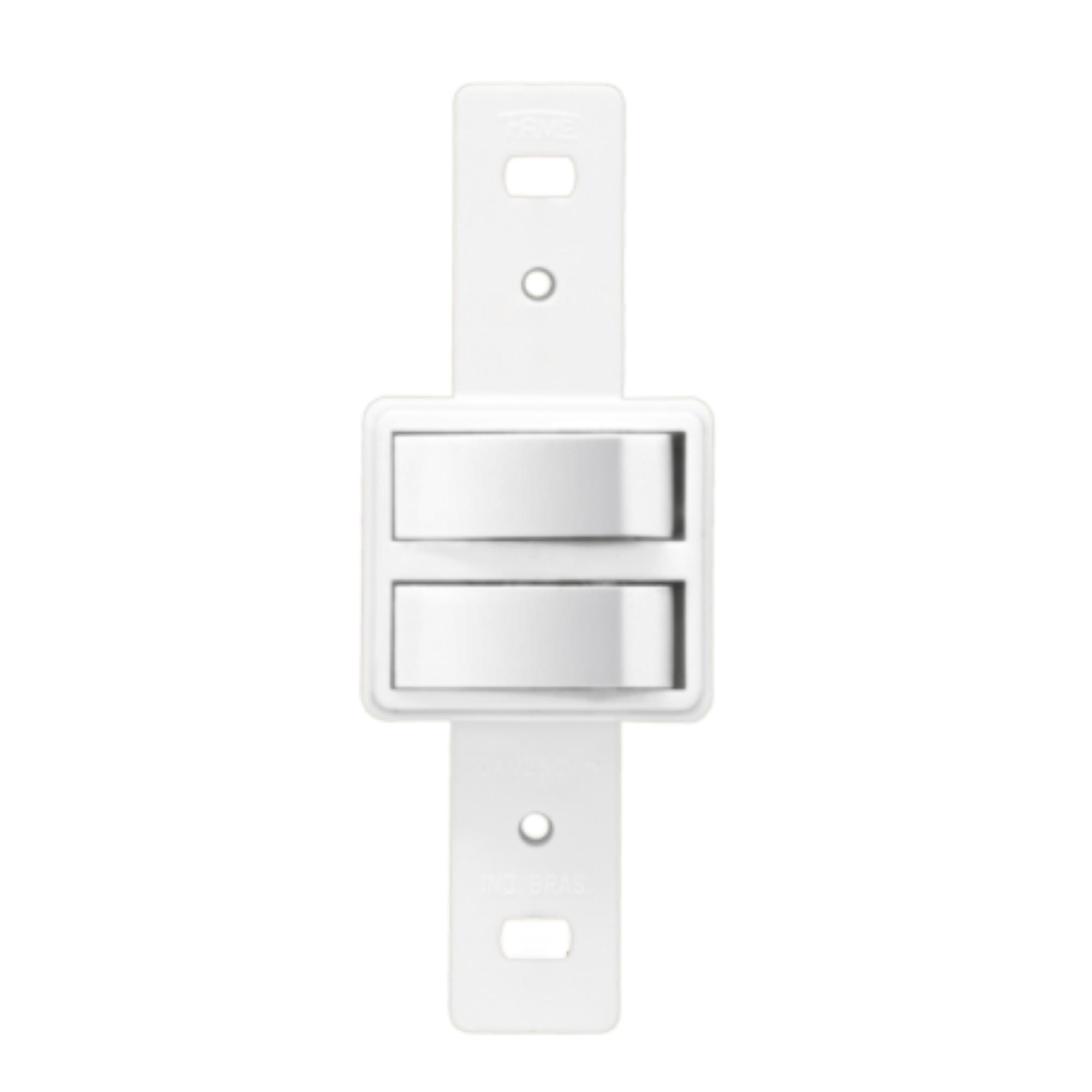 Blanc 2 Seções de Interruptor Simples Sem Placa