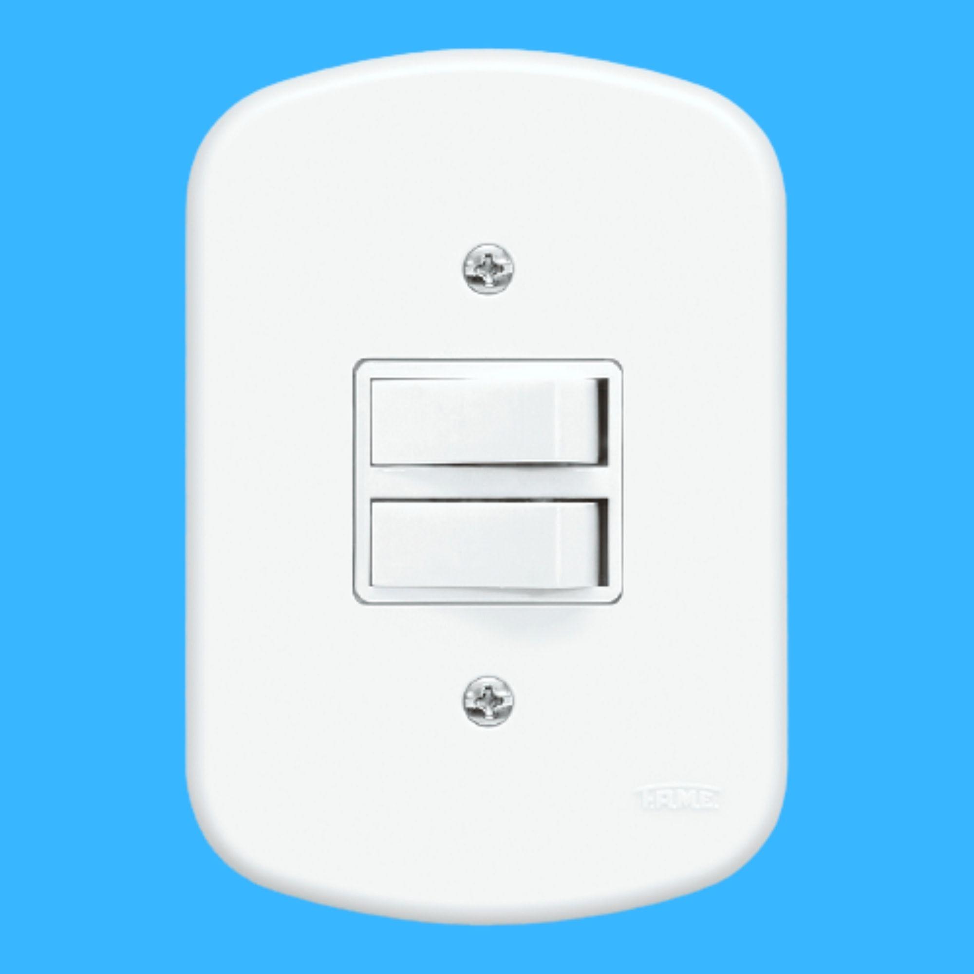 Blanc 2 Seções de Interruptor Paralelo Com Placa