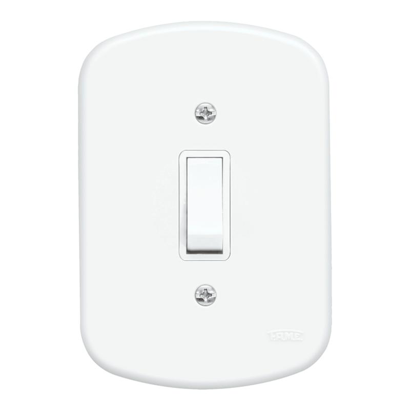 Blanc 1 Seção de Interruptor Paralelo Com Placa