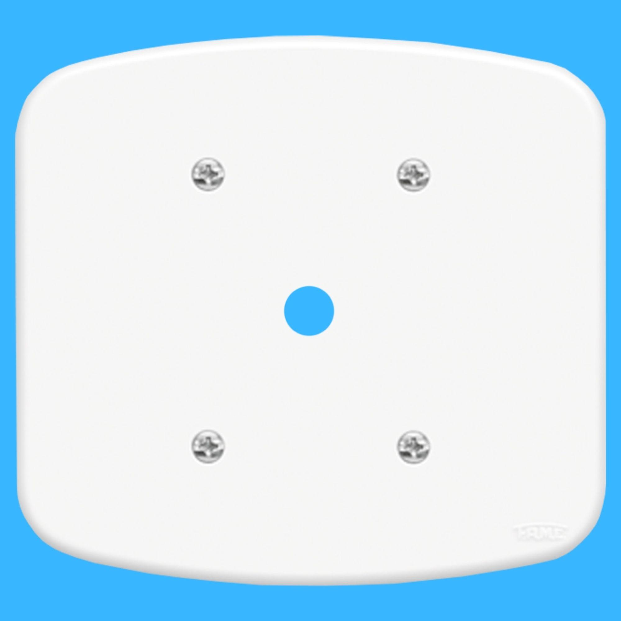 Blanc Placa 4x4 Com Furo