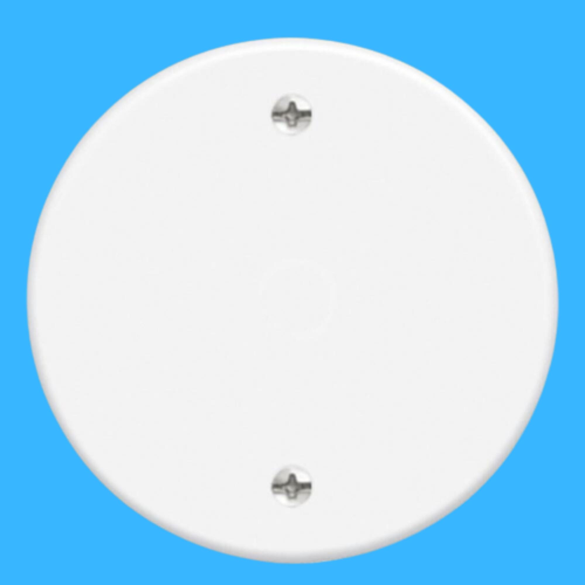Blanc Placa Redonda Cega 3 Cm