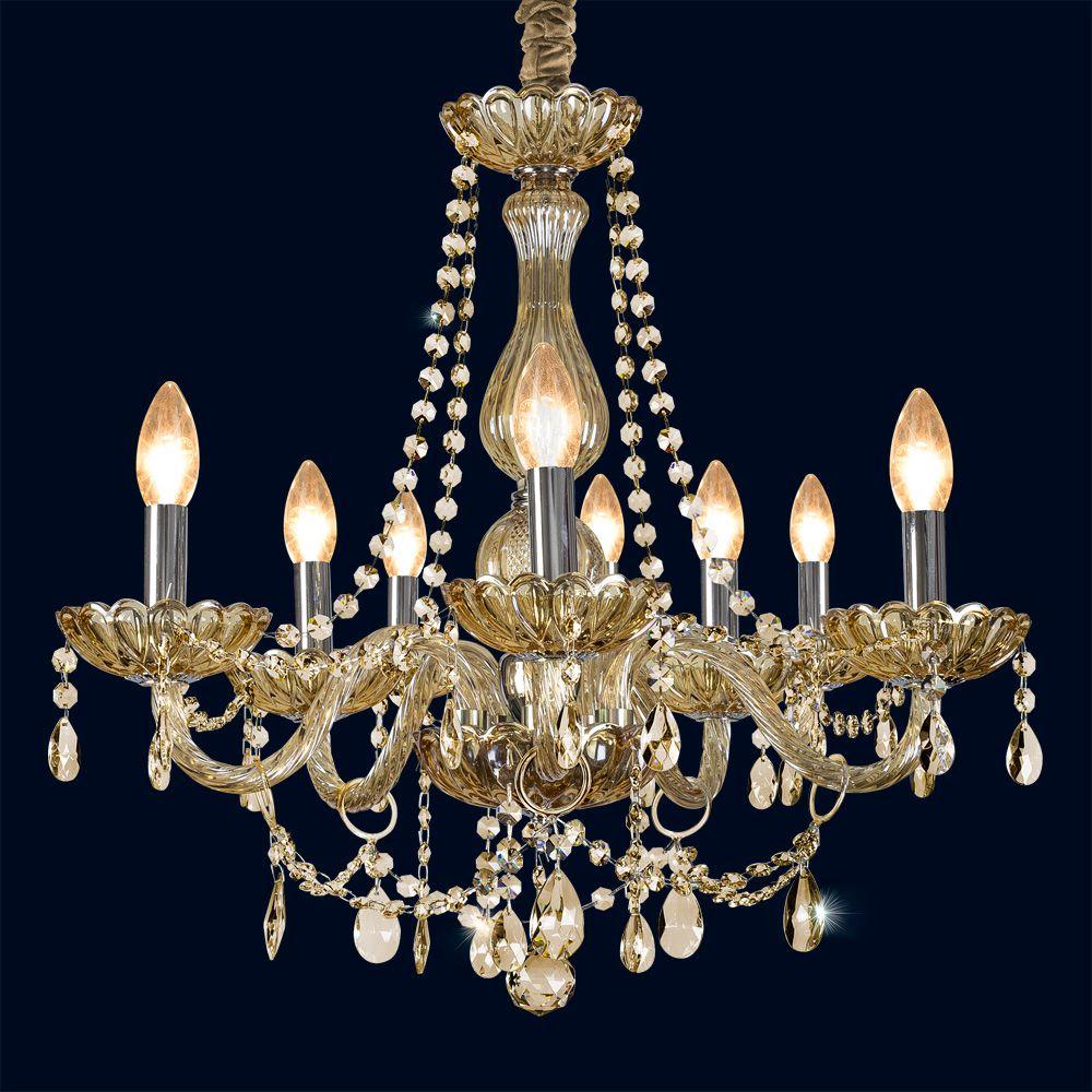 BRONZ LUSTRE CLASSIC 8 LAMP E14 AMBAR
