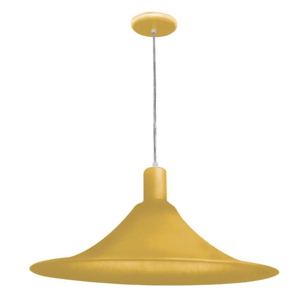 Bronzearte Pendente Aquarela Chapéu Chinês  1 X E-27 Amarelo 40 Cm