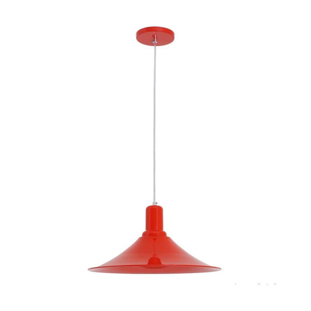 Bronzearte PendenteAquarela Chapéu Chinês Vermelho 1 Lâmpada