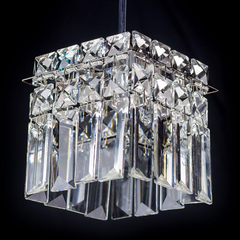 Bronzearte Pendente Paris Cristal Quad de 1 Lâmpada Bocal G9