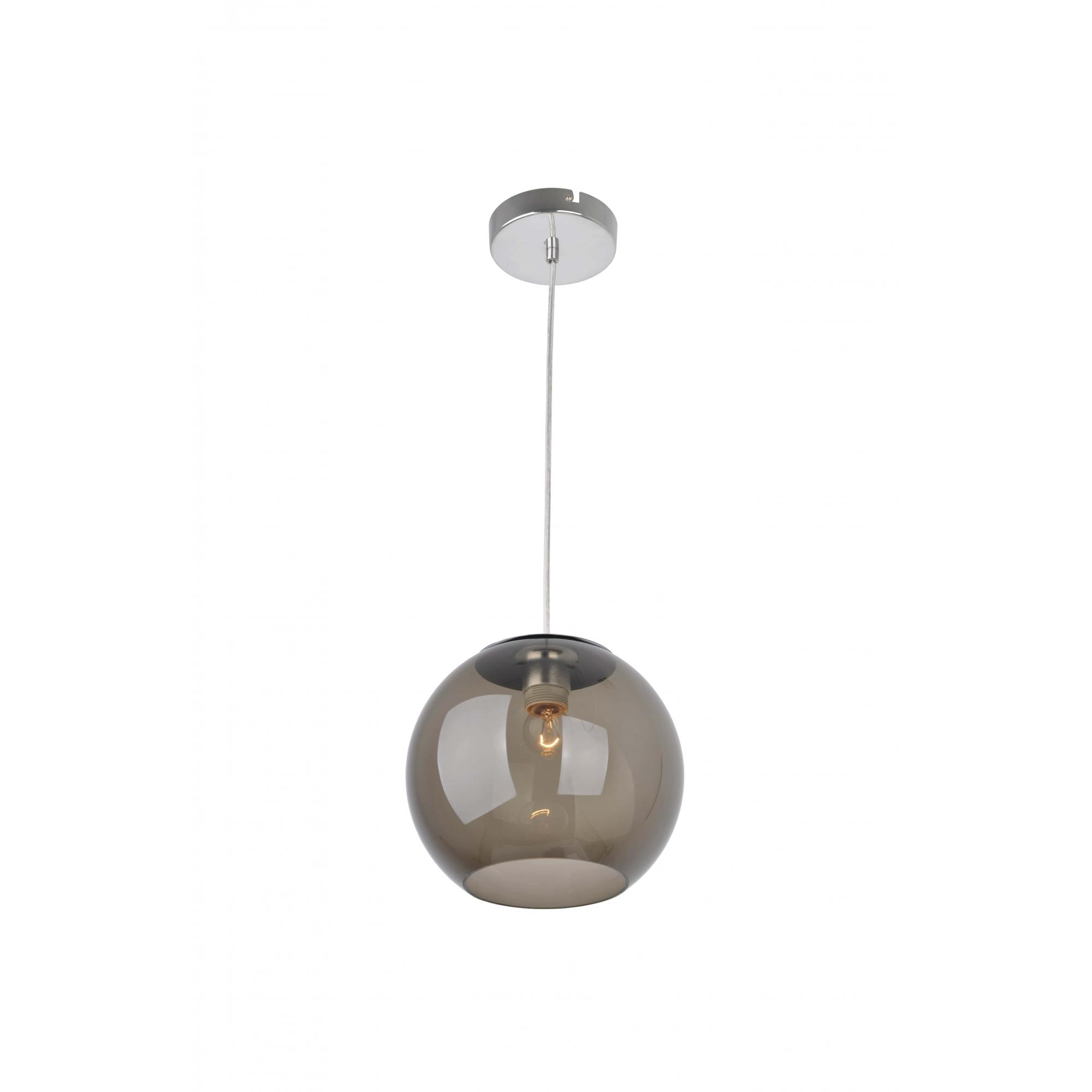 Bronzearte Pendente Globe Acrilico Fume 25cm