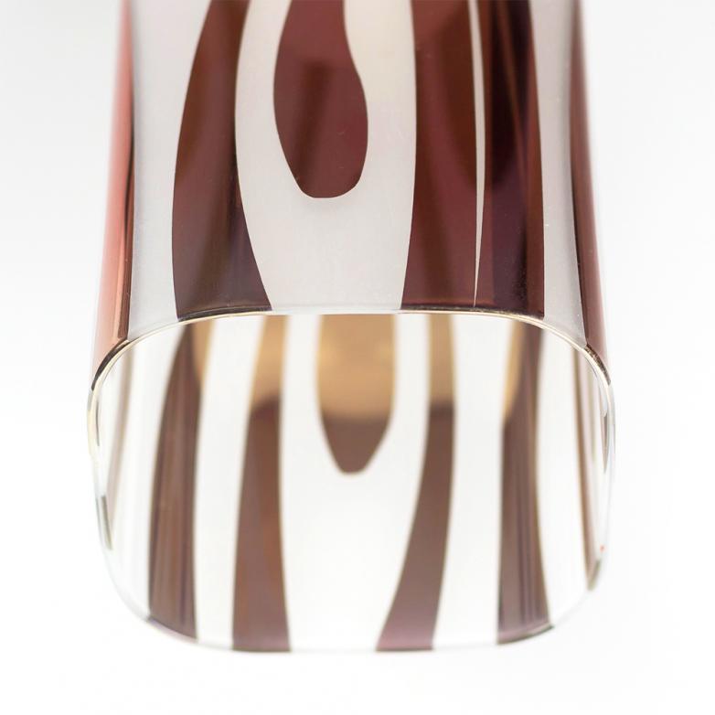 Bronzearte Pendente Mirage Zebrado Cobre 28cm 3 Lamp E-27