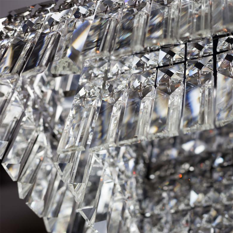 Bronzearte Pendente Quadrado Paris Cristal 25cm 4 Lamp G9