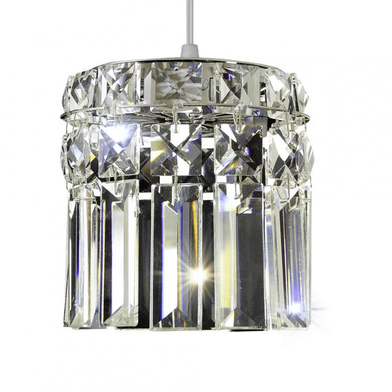 Bronzearte Pendente Redondo Paris Cristal 115mm 1 Lamp G9