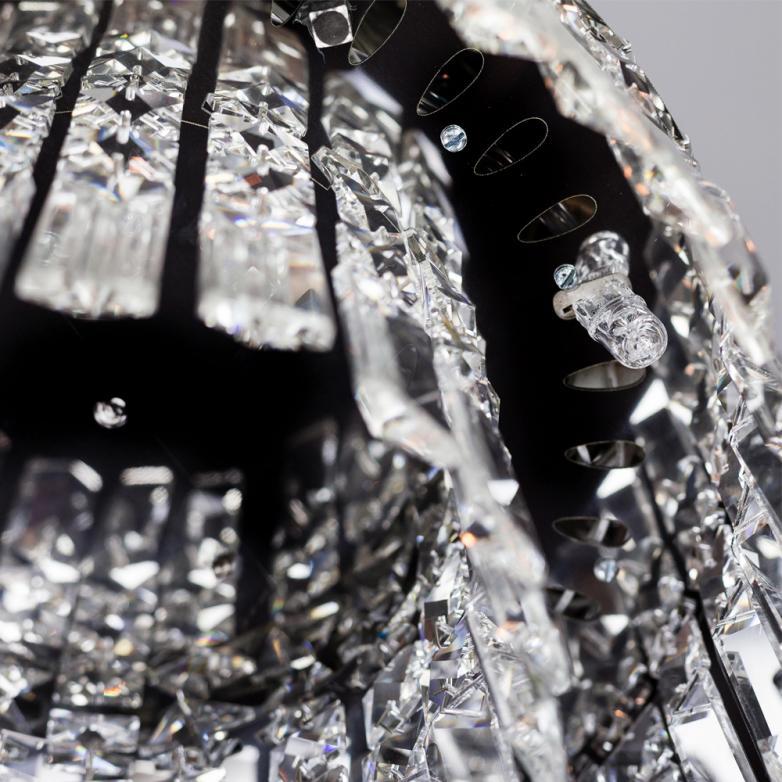 Bronzearte Pendente Redondo Paris Cristal 25cm 4 Lamp G9