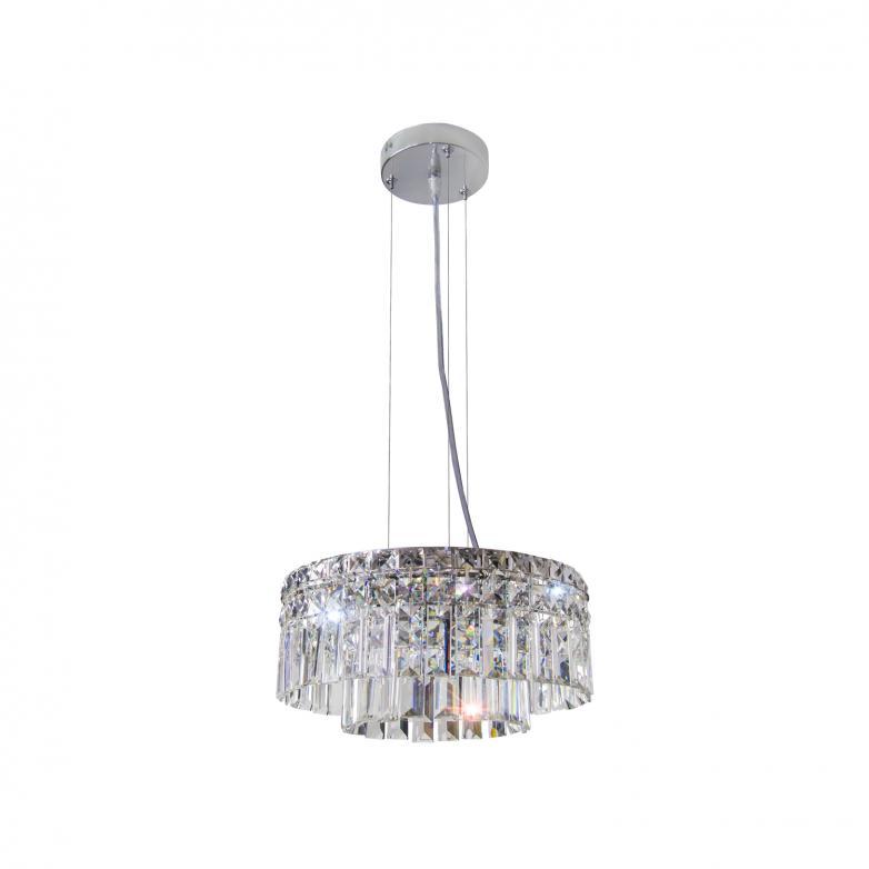 Bronzearte Pendente Redondo Paris Cristal 40cm 10 Lamp G9