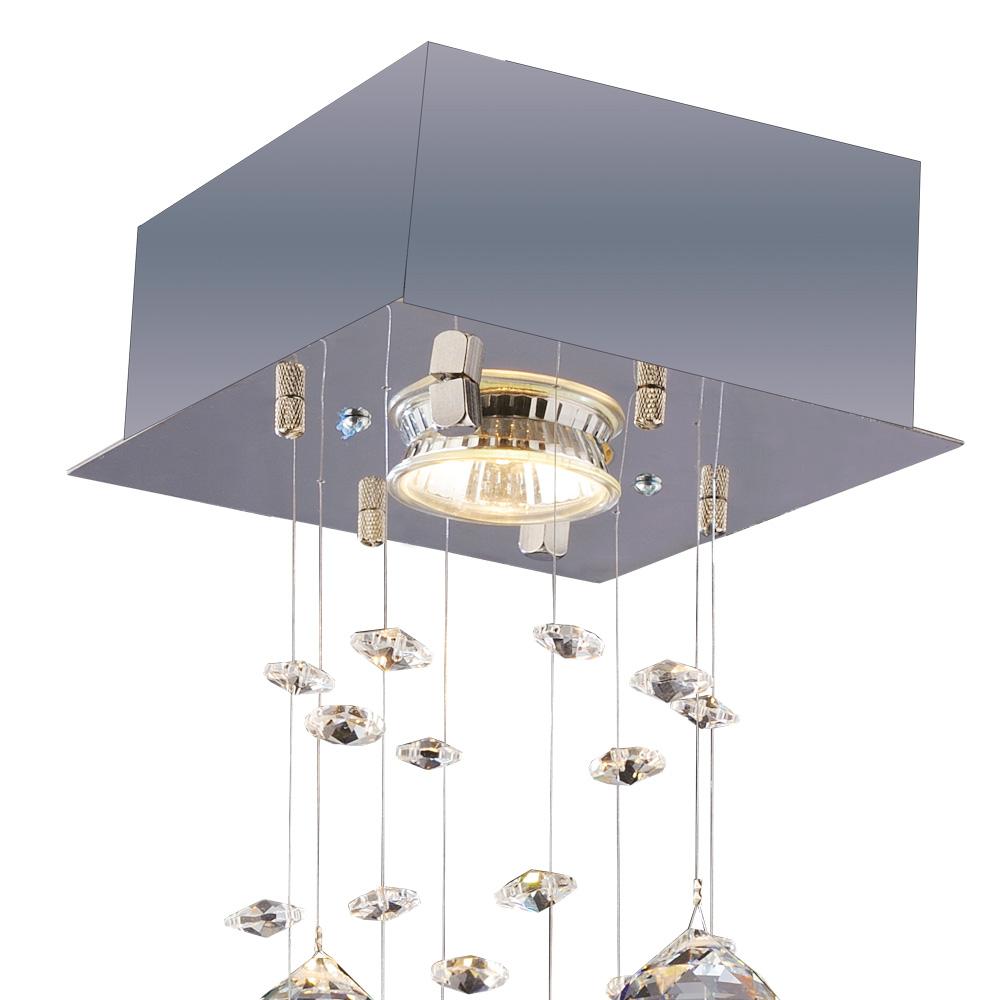Bronzearte Plafon Brilhante Quadrado 14cm X 14cm 1 Lamp GU10