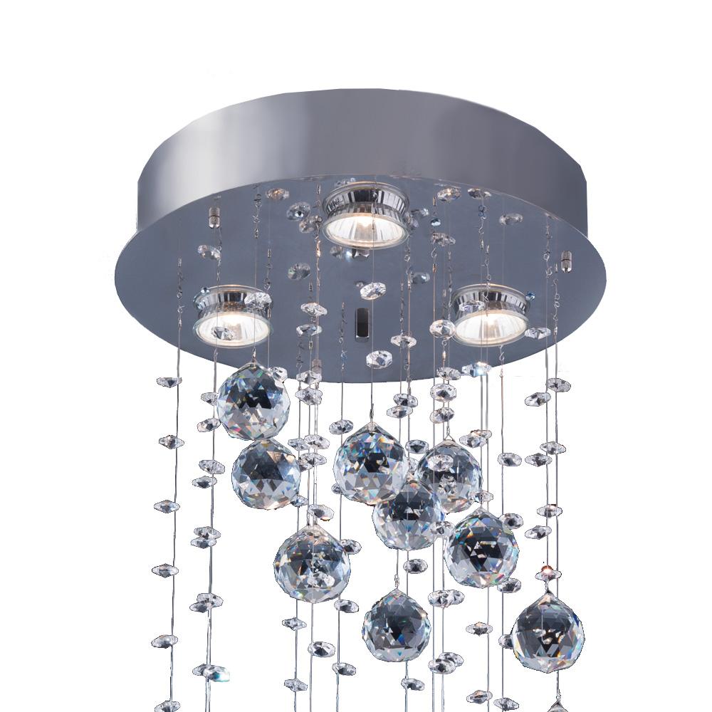 Bronzearte Plafon Crystal Spiral 30cm 3 Lamp GU10