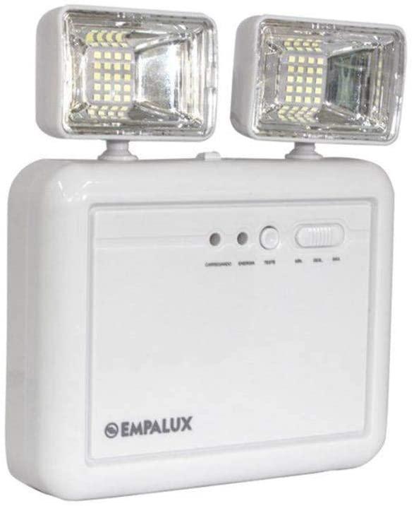 Central De Emergência Led Com 2 Faróis 9,6w 2200 Lumens