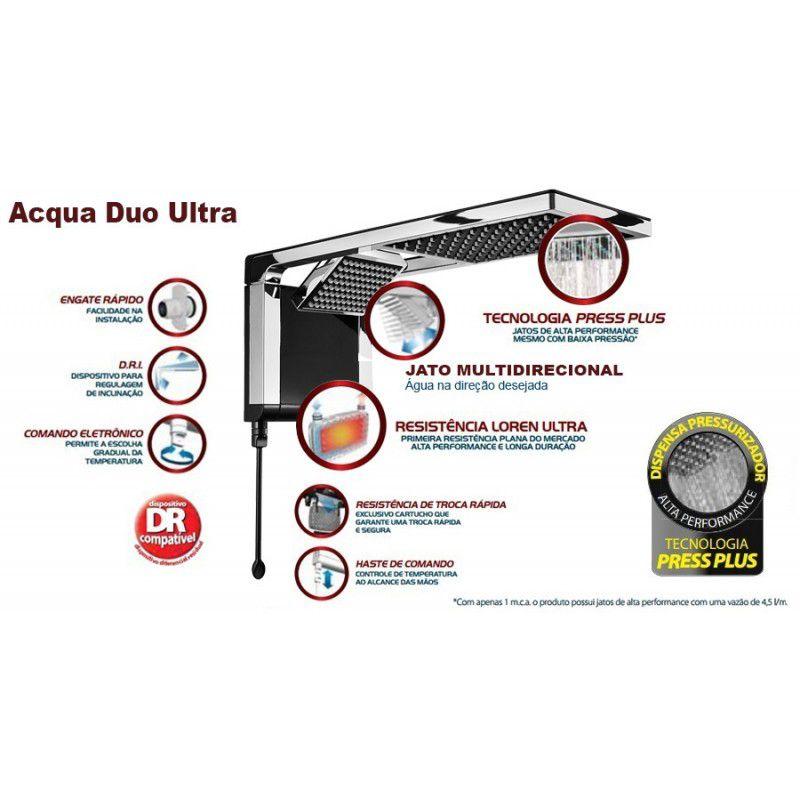 CHUVEIRO ACQUA DUO ULTRA BRANCO/CROMADO 6800W X 220V
