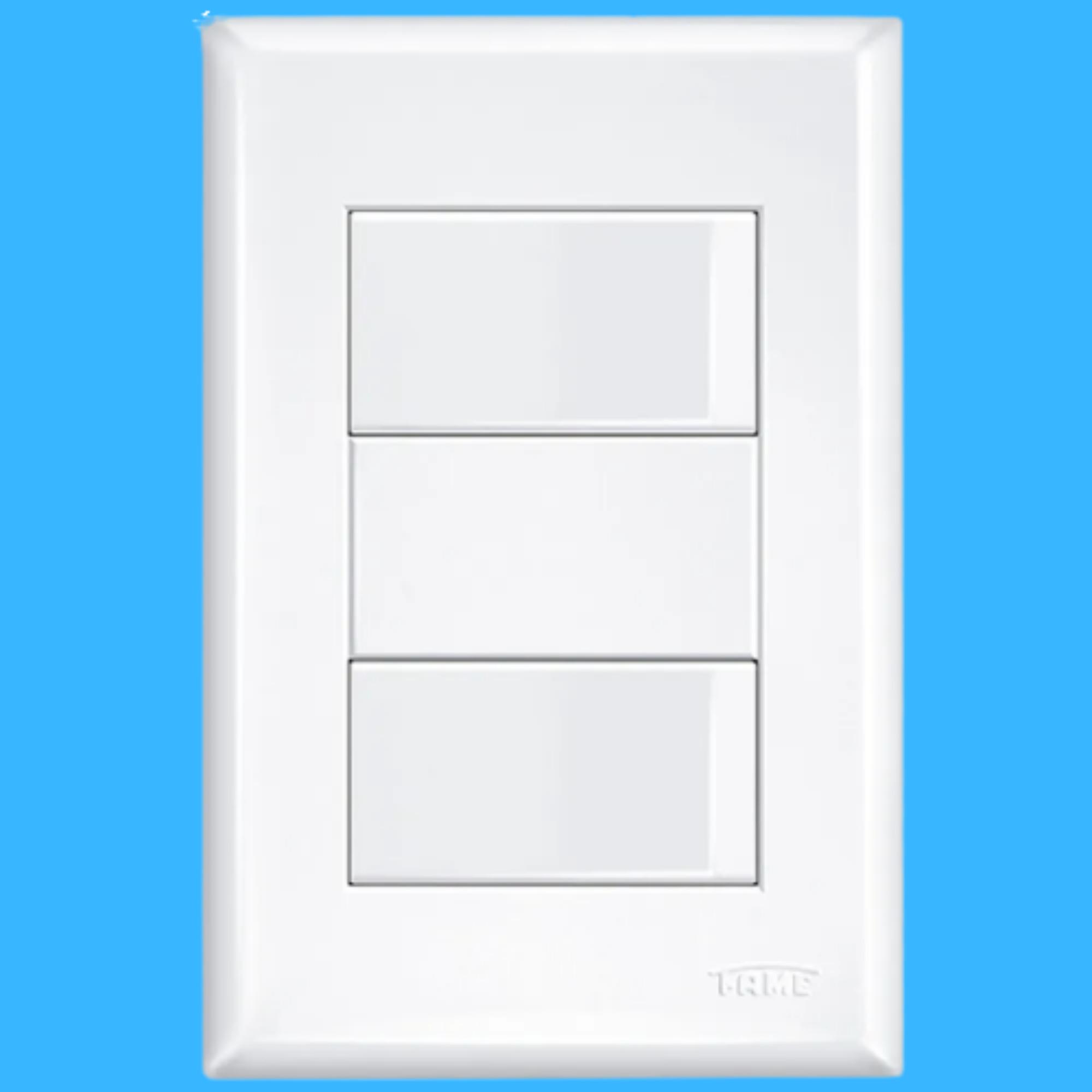 Evidence 2 Seções de Interruptor Simples Com Placa