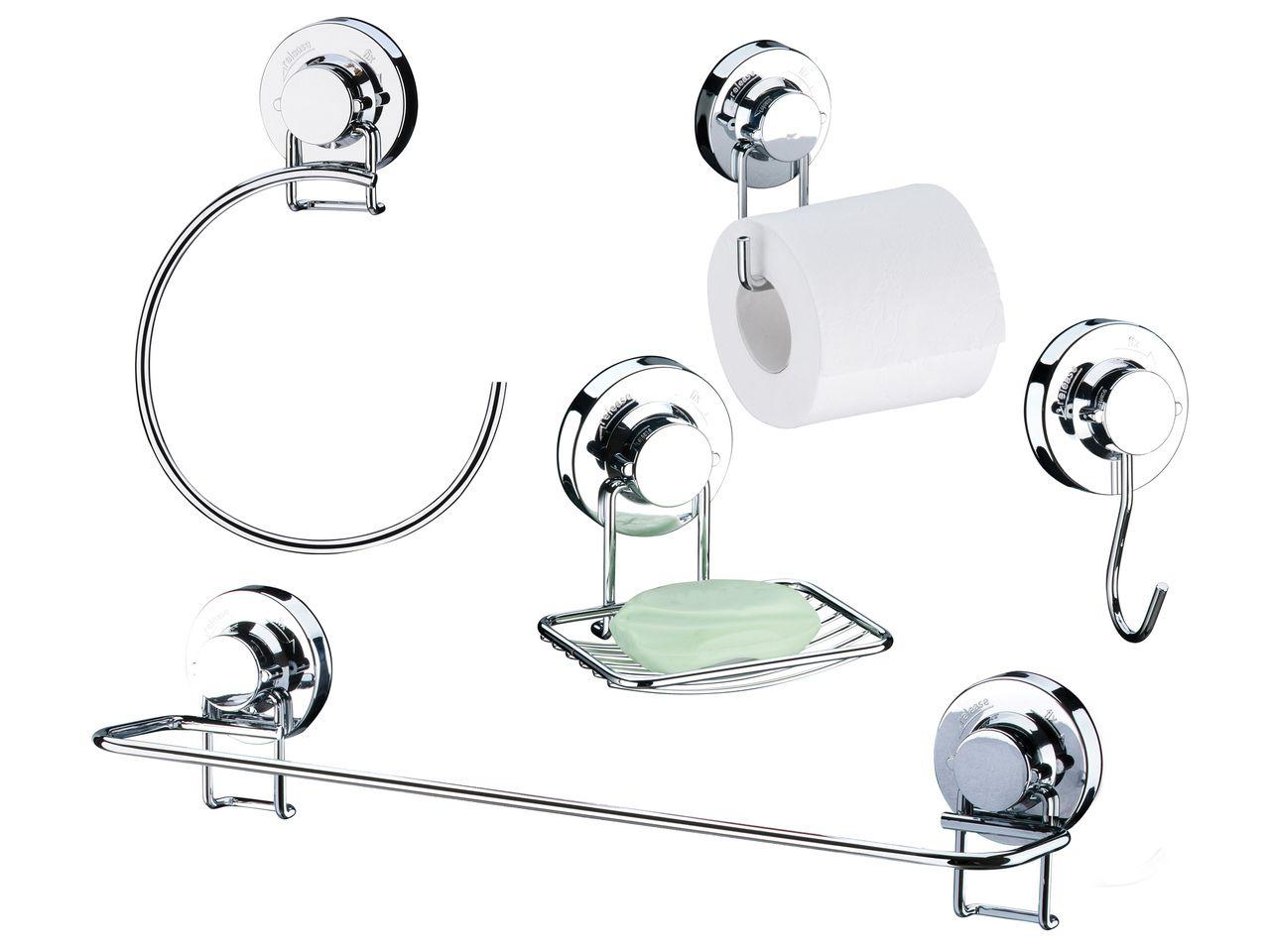 Future Conjunto Banheiro 5 Peças AçoCarbono Com Ventosa 4013