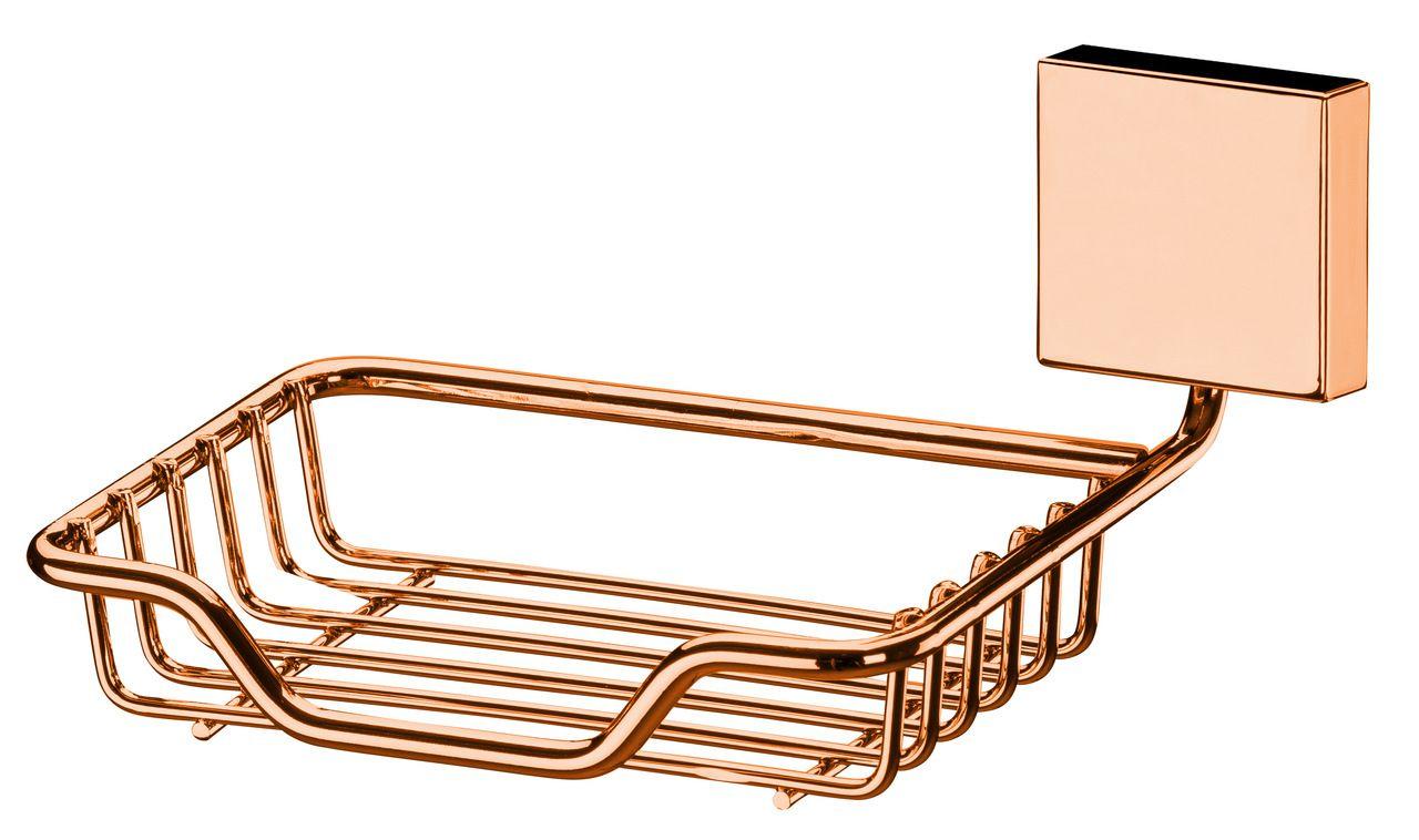Future Saboneteira Aramada Rosé Gold Aço Carbono Kit Fixação