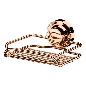 Future Saboneteira Rose Gold Aço Carbono Com Ventosa 4053RG