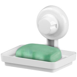Future Saboneteira Plástica Branca Com Ventosa 402BC