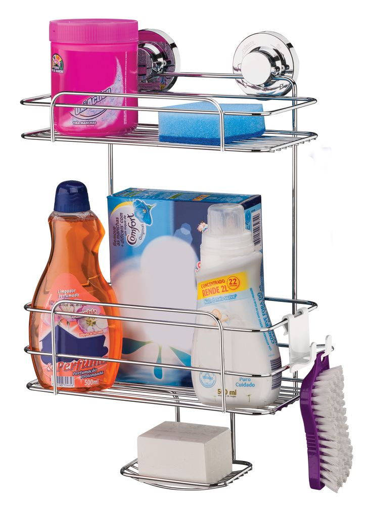 Future Suporte 2 Andares Shampoo Sabonete AçoCarbono Ventosa