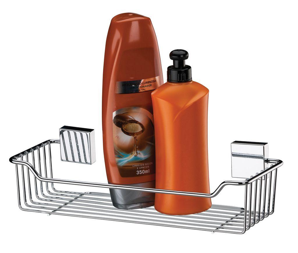 Future Suporte Para Shampoo Aço Inox Com Ventosa 7001