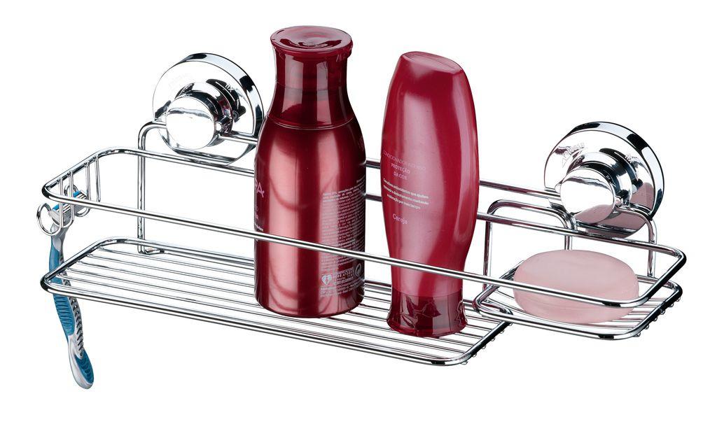 Future Suporte Para Shampoo e Sabonete Aço Carbono Com Ventosa 4000