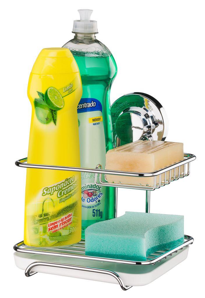 Future Suporte Para Sabão Detergente e Esponja Aço Carbono
